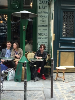 At a Paris cafe