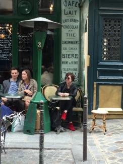 At a Paris cafe