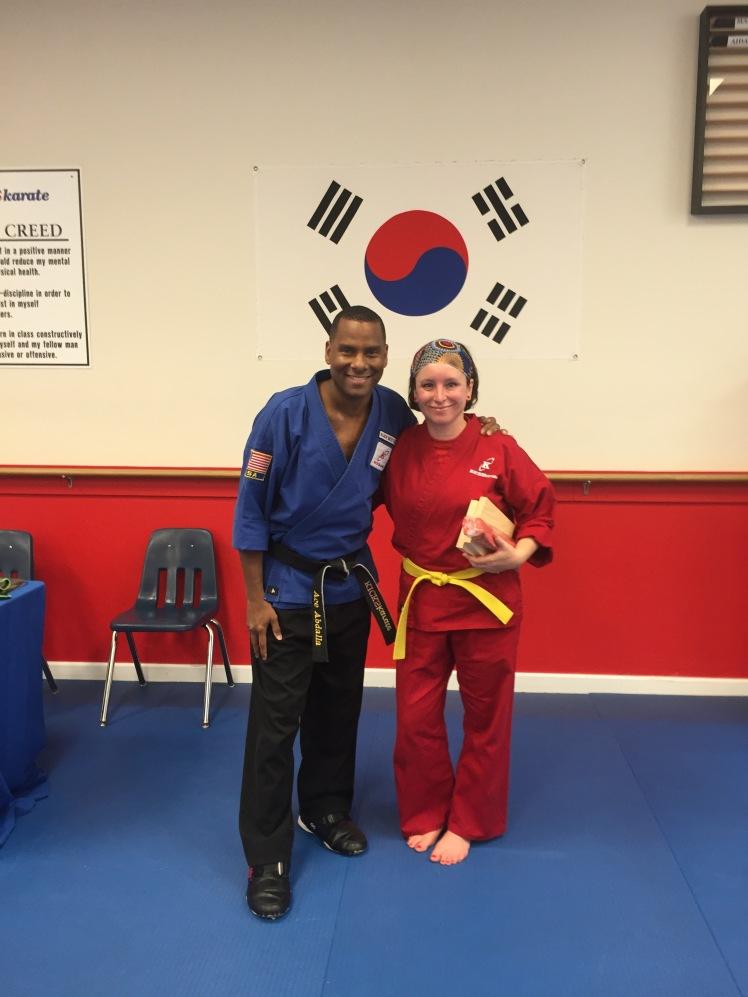 Karate belt test