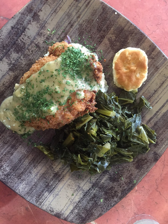 Fried chicken lunch at Sweet Potatoes Kitchen