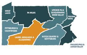 Laurel Highlands map