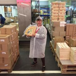 In the cheese warehouse at France's Rungis Market.